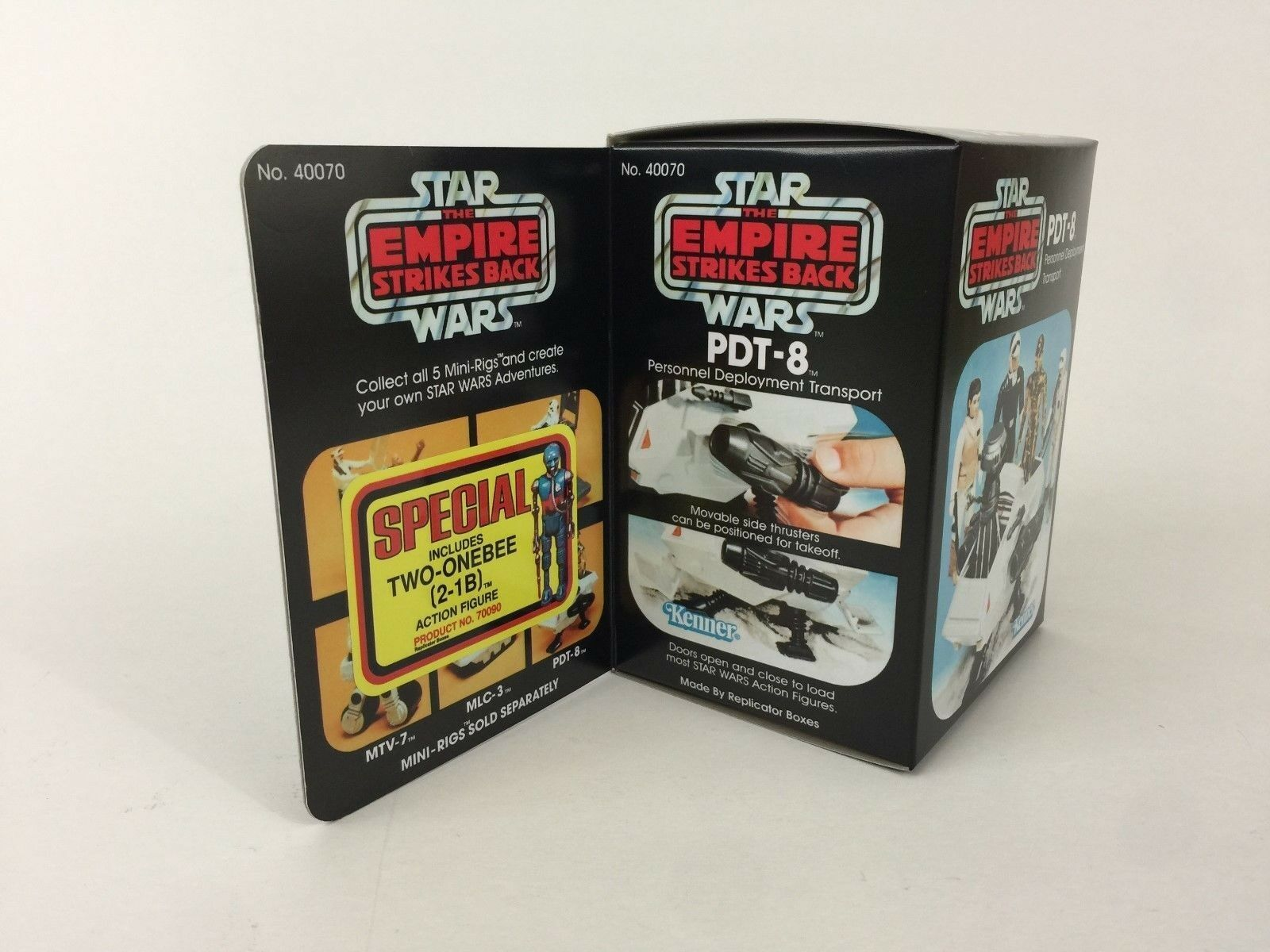 Reproduction vintage star wars esb special mini rig pdt-8 special esb offer 2 box + inserts f0dfbb