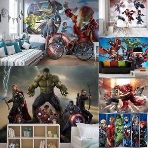 Various-size-amp-design-wall-mural-wallpapers-kids-Marvel-Avengers-Hulk-Iron-Man