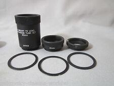 PREMIUM MACRO C-MOUNT LENS EXTENSION TUBES for CLOSE-UP SHOTS all c-mount lenses