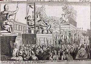 Guillotine-1793-Mort-de-Brissot-Girondins-Gravure-revolution-Francaise-Paris