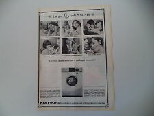 advertising Pubblicità 1966 LAVATRICE NAONIS G 455