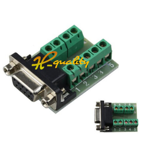 5pcs DB9 connector female adapter signals Terminal RS232 Serial to Terminal new
