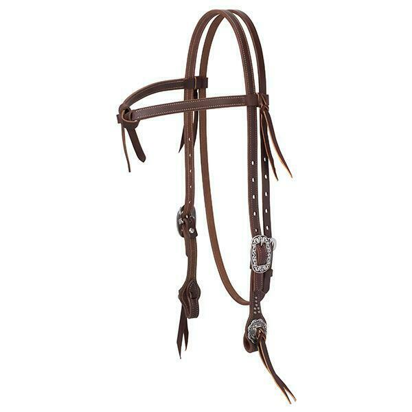 Weaver Floral Futurity Knot Brow Headstall
