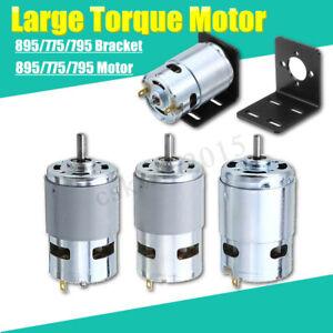 Motor-Large-Torque-Gear-Motor-775-795-895-Motor-Bracket-DC-12V-24V-3000-12000RPM