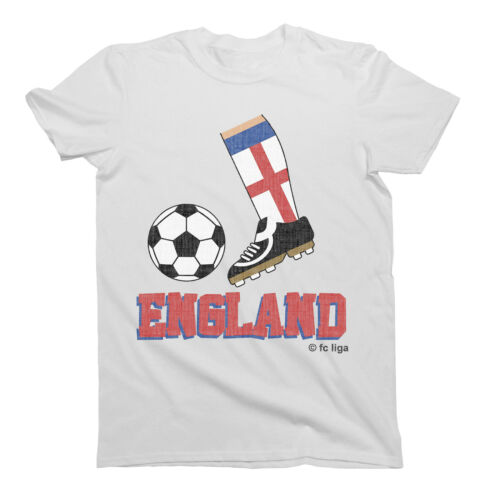 Kids ENGLAND Football Boot T-Shirt WORLD CUP 2019 Childrens Boys Girls Retro Top