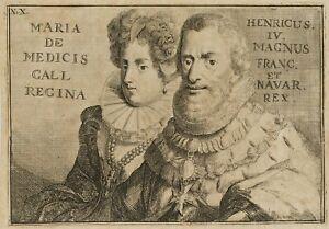 R. de Hooghe (before 1645-1708), Henry IV. and Maria de 'Medici, 1691, kupferst