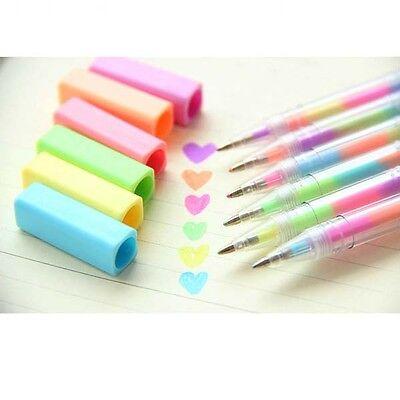1xRainbow Color Gouache Highlighter Pen 1.0mm Deco Diary Photo Album Card Making