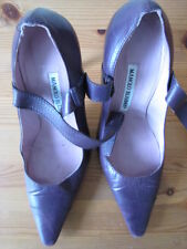 Manolo Blahnik Zapatos De Diseñador Color Ciruela S: 5 Reino Unido