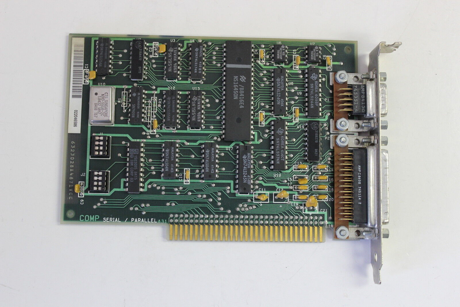 IBM 6323028 SERIAL/PARALLEL 8 BIT ISA ADAPTER BOARD 6320947 WITH WARRANTY