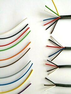 5m FLRY Fahrzeugleitung weiss 0,75mm² rund Kabel Litze KFZ Stromkabel