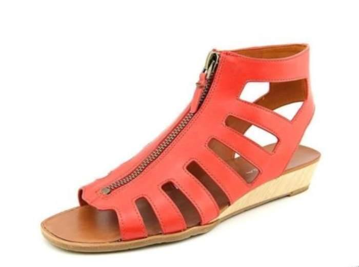 Via Spiga V-Park Mujer Rojo Cuero Sandalia Gladiador 9.5 M Nuevo Nuevo En Caja  175
