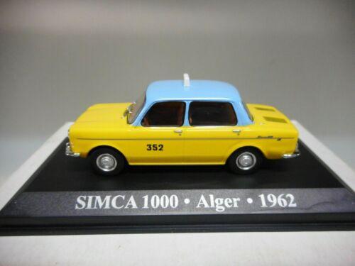 SIMCA 1000 TAXI ALGER 1962 ALTAYA IXO 1:43 HARD BOX