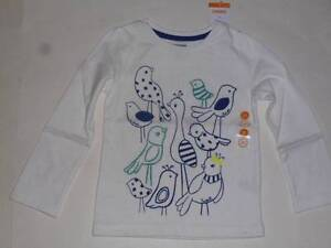 Gymboree Painting Pals White OR Gray Shirt Top W// Bows Size 2T 3T NEW