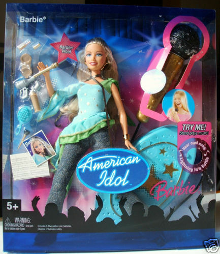 POUPEE BARBIE SINGS COLLECT. AMERICAN IDOL microphone