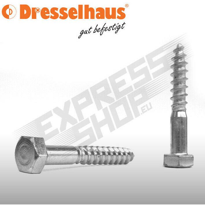 100 x  Sechskant-Holzschrauben DIN 571 A 2 8 x 50 A 2