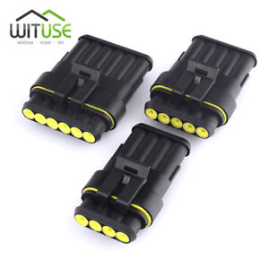 5 sets sealed 2 3 5 pin waterproof electrical wire motorcycle rh ebay com