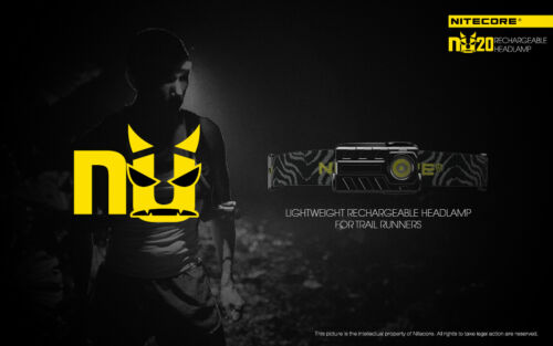 Black Headband Nitecore NU20 Cree XP-G2 S3 LED Rechargeable Headlamp Headlight