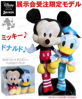 DUNLOP GOLF JAPAN SRIXON Mickey & Donald DR & FW HEADCOVER SET 2016