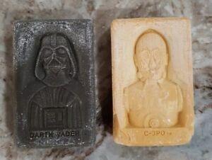 1983-Vintage-2-STAR-WARS-SOAP-C-3PO-amp-Darth-Vader-Collectible