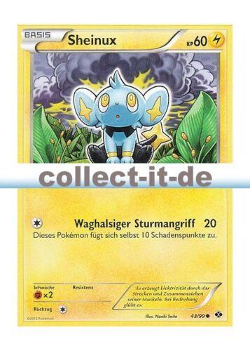 Sheinux Deutsch Kommende Schicksale 43//99 Pokemon Schwarz/&Weiss
