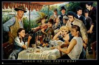 George Bungarda Lunch On The Party Boat 24x36 Poster Marilyn Monroe James Dean