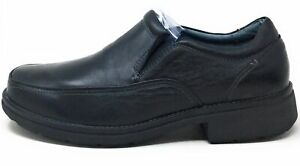 Propet-Men-039-s-Hansen-Slip-On-Dress-Shoe-Loafer-Black-Leather-14-3E-Extra-Wide