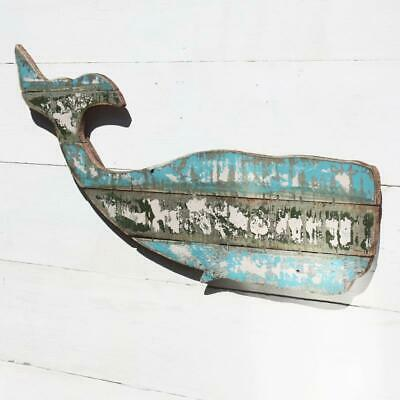 Shoeless Joe Bord de mer en bois Baleine Coastal Wally la baleine Nautique Décoration