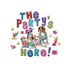 Playwrite PLASTIC GARDEN SIGN The Party Is Here Happy Birthday Children Girl Boy