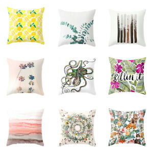Am-Lemon-Leaf-Octopus-Home-Office-Decorative-Cushion-Cover-Pillow-Cases-NEW-Gli