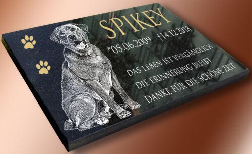 Grabstein Tiergrab Grabplatte Urnen Grabtafel mit Ihrem Foto 30x20cm HG1