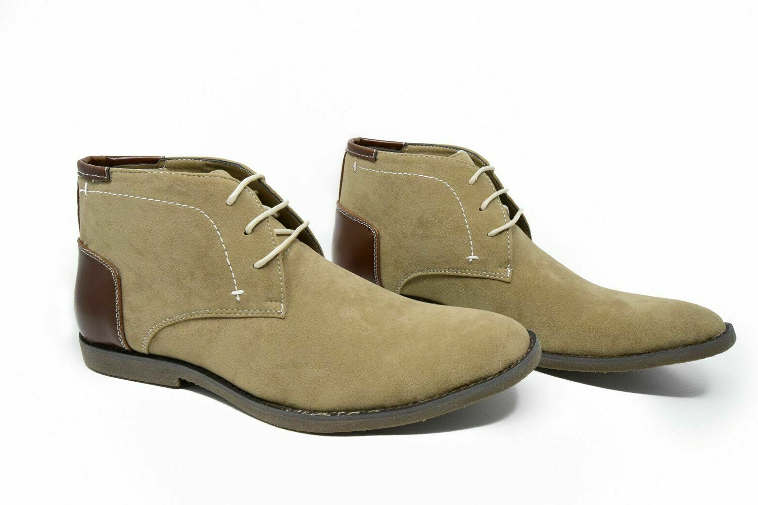 Beige NEW Gino Pheroni Men/'s Chelsea Boots 8.5 Size