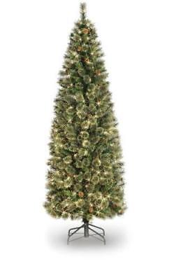 promo code 731c1 e411c Deluxe 7ft Prelit Cashmere Pine Artificial Christmas Tree Clear / White  Lights | eBay