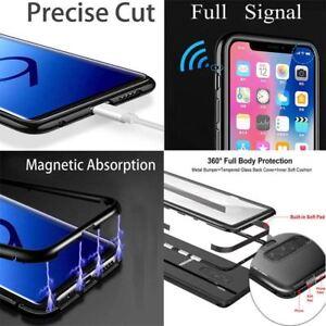 Magnetique-absorption-Metal-Pare-Chocs-Glass-Case-Cover-Pour-Samsung-Galaxy-S7-S7-Edge
