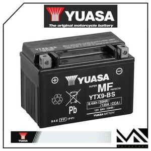 BATTERIA-YUASA-YTX9-BS-12V8AH-SUZUKI-650-DR-SE-ANNI-1996-1997-1998-1999-2000