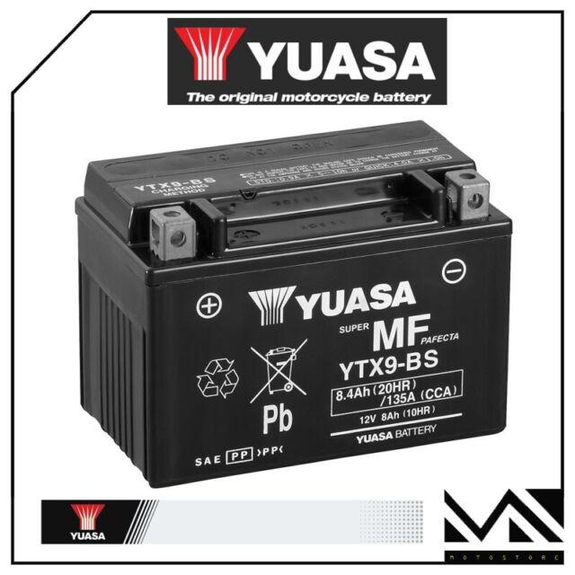 BATTERIA YUASA YTX9-BS 12V8AH ADLY 300 INTERCEPTOR ANNI 2005 2006 2007 2008