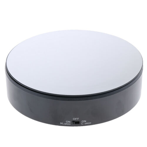 Electric Display Rotating Stand Motorized Mirrored Display Turntable Black