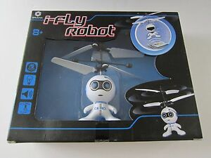 BRAHA i-Fly Robot Flying Helicopter White/Blue New