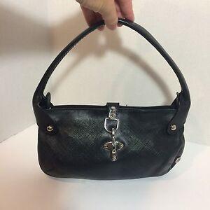 Black Leather Bally Hobo Handbag Ebay