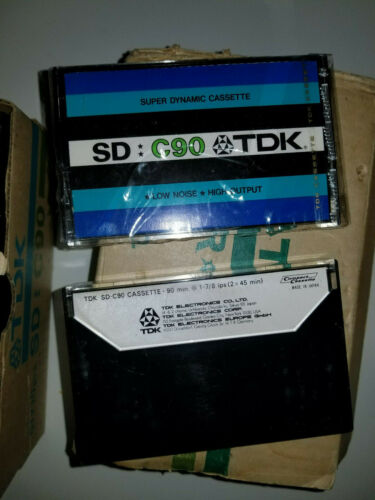 TDK SD C90 Extended High Resolution Blank Audio Cassette Tape New Sealed Vintage
