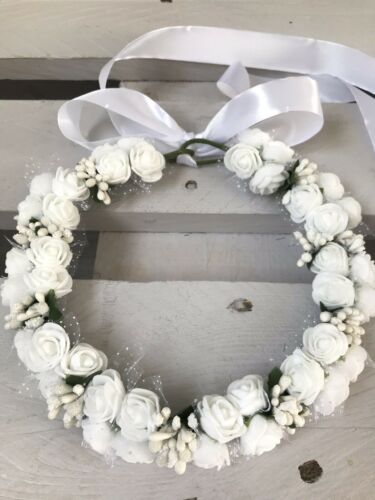 Communion Bridesmaid Flower Girl Wreath Halo Circlet HeadDress Crown Garland