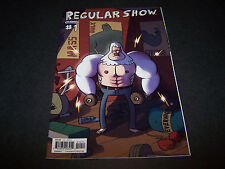 REGULAR SHOW #1 COVER D VARIANT CARTOON NETWORK TV MORDECAI RIGBY MUSCLE MAN 1ST