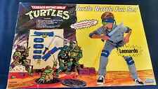 Vintage TMNT TURTLE BATTLE FUN SET 1988 LEONARDO FACTORY SEALED MISB