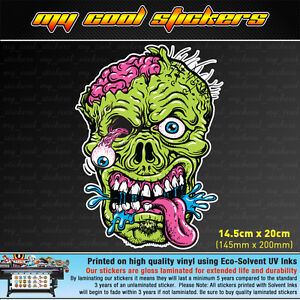 Zombie-Head-20cm-high-Vinyl-Sticker-Decal-for-car-ute-4x4-skate-board