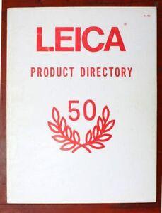1975-Leica-Kamera-Produkt-Verzeichnis-50th-Anv-Katalog-m5-mda-cl-leicaflex