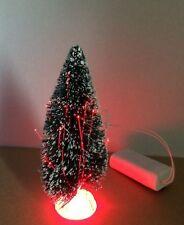 Fibre Optic Green Christmas Tree Approx. 15cm, Dolls House Miniature