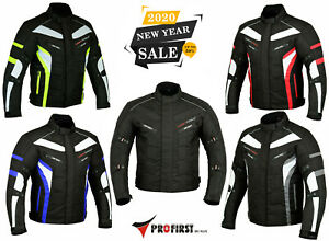 Men-039-s-Motorcycle-Motorbike-Jacket-Waterproof-Textile-With-CE-Armoured-6-Colours