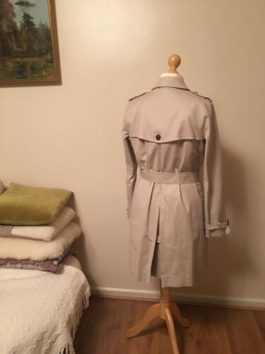 Trench The Uk Coat Size 12 White Company Double Breasted rSw8xISRq