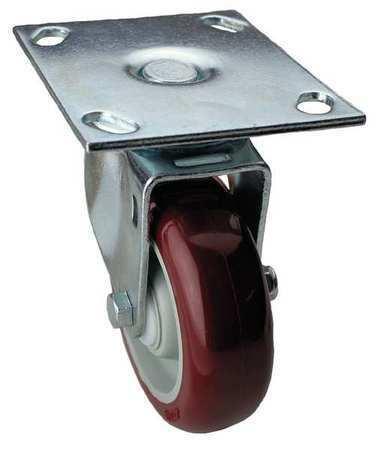 ZORO SELECT 33H912 Swivel Plate Caster,450 lb.,Plate Type B