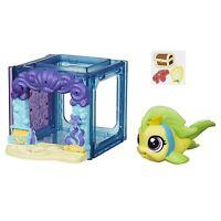 Littlest Pet Shop Mini Style Set With 4023 Flippa Splashley Fish Figure (b2894)