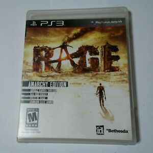Rage Anarchy Edition Sony PlayStation 3 PS3 Game Complete Manual M